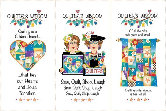 Set - Three Fabric Art Panels, one Set of Zipper Charms and the Tote Bag Pattern