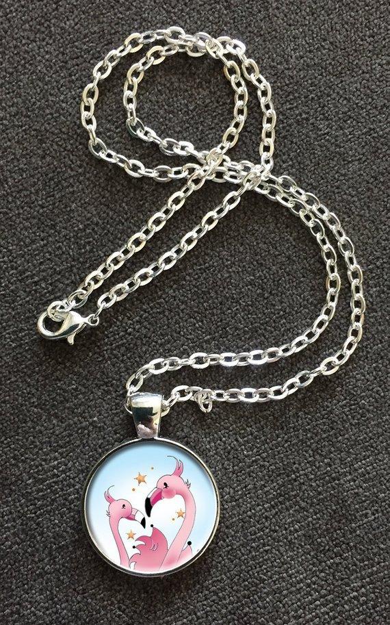 Flamingo Love Necklace