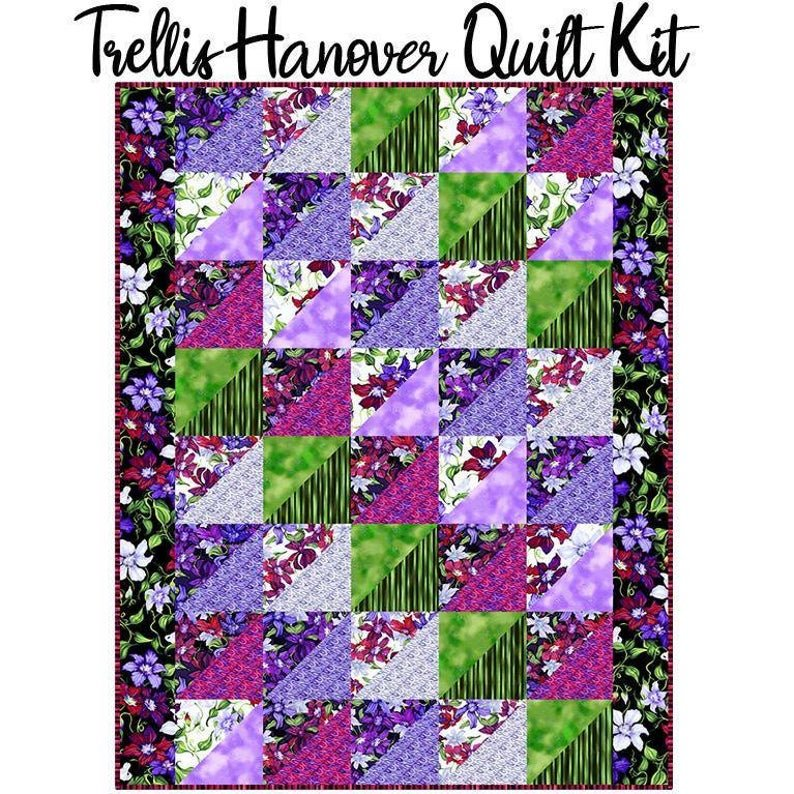 Hanover Quilt Kit with Trellis Fabric from Clothworks