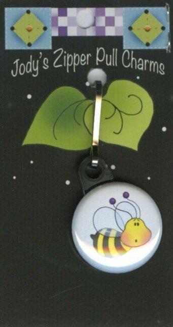 Zipper Pull Charm Bee