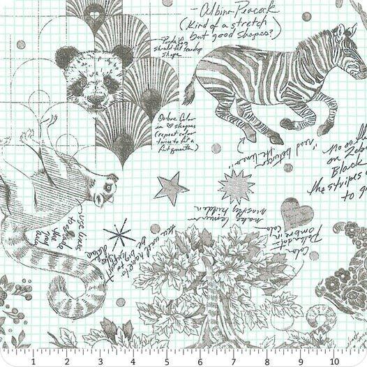Linework 108 Wide Sateen Sketchyer Paper Yardage