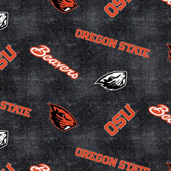 Oregon State Distressed Logo Flannel