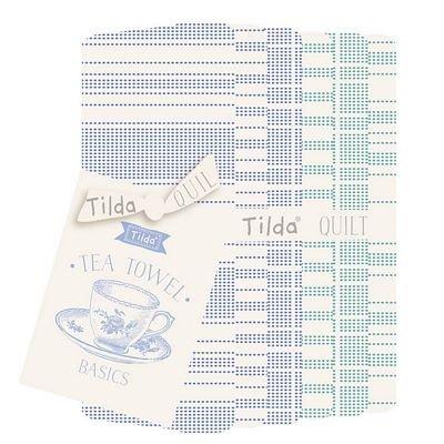 Tilda Tea Towel Basics Collection - Blue/Teal