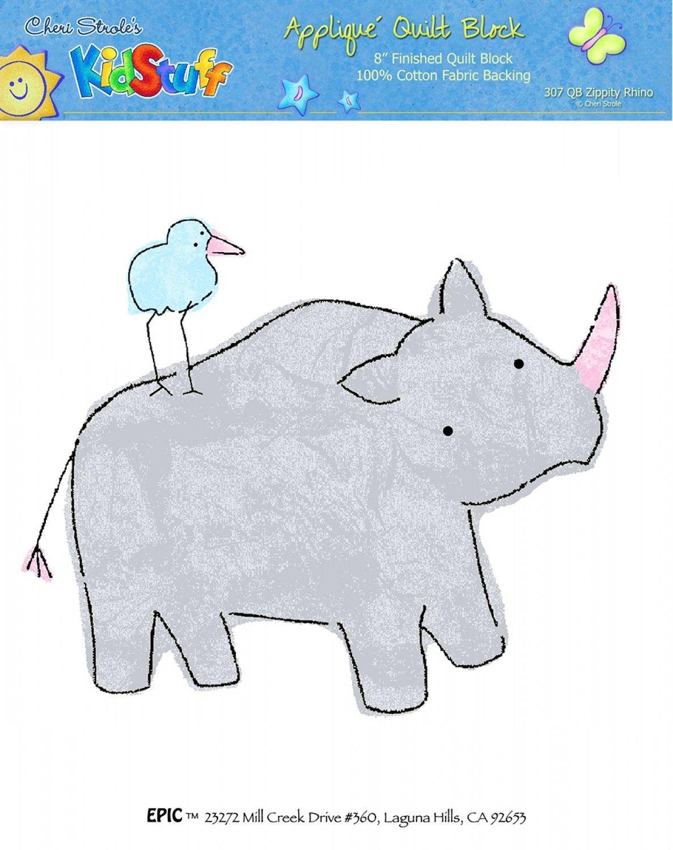 Quilt Block 8x 8 Rhino