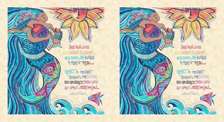 L B     Sea Goddess Panel  Y2596-57M