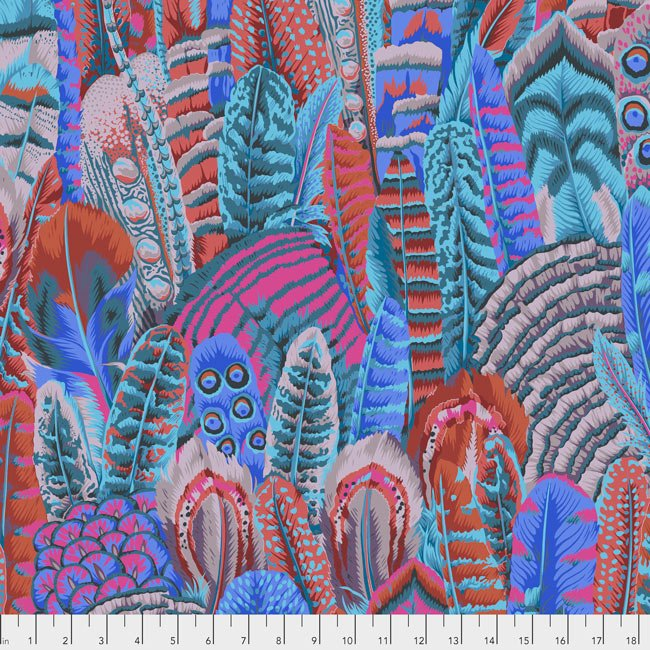 Kaffe Fassett 2018 Collective 21283-Feathers-Turquoise