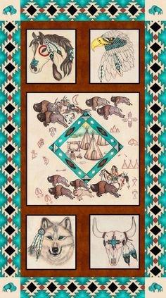 8114P-75 , Spirit of the Buffalo by Tana Mueller of Western Denim & Dirt