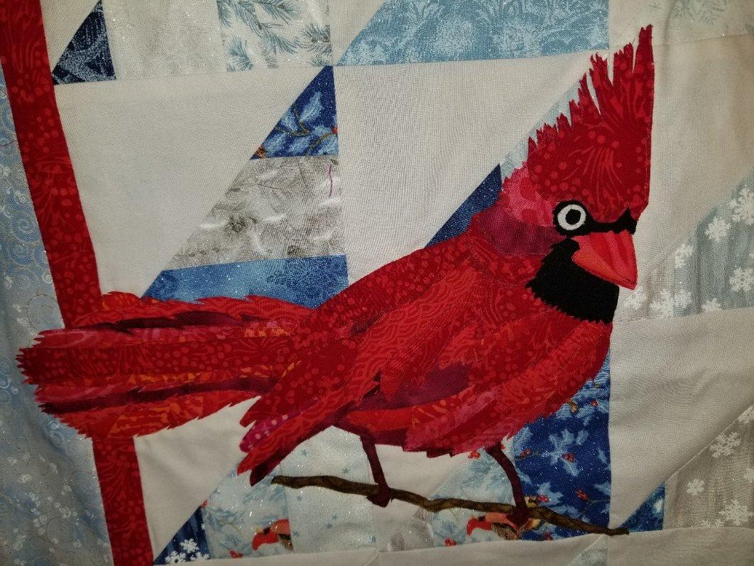 Cardinal Laser-Cut Fused Applique & Pattern