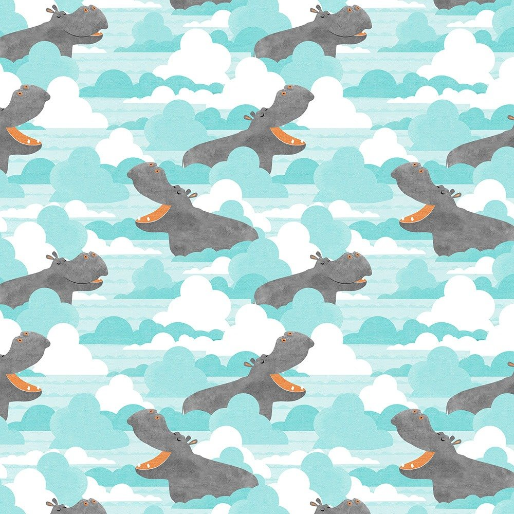 Dream Big Hippos & Clouds