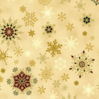 Christmas Wonders Beige Gold Metallic