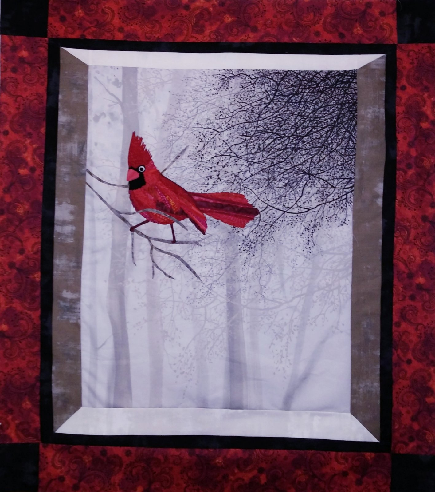 Cardinal Kit, includes laser-cut, top fabrics, backing and binding