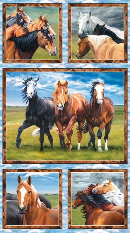Wild at Heart Horse Panel
