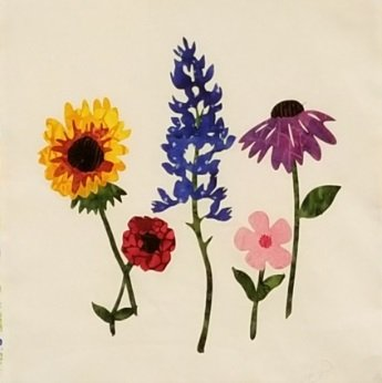 Wildflowers All Around Laser Cut Fusible Applique