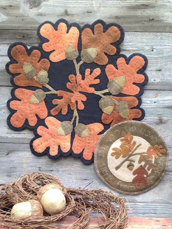 Wooden Spool Designs From Acorn to Oak Pattern