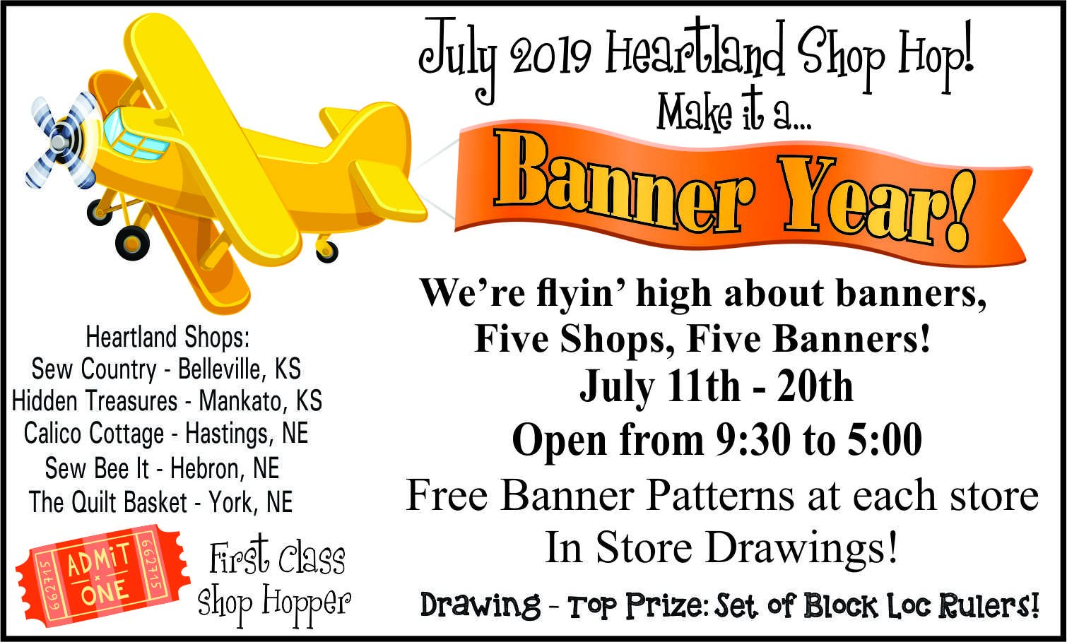 July Heartland Shop Hop!