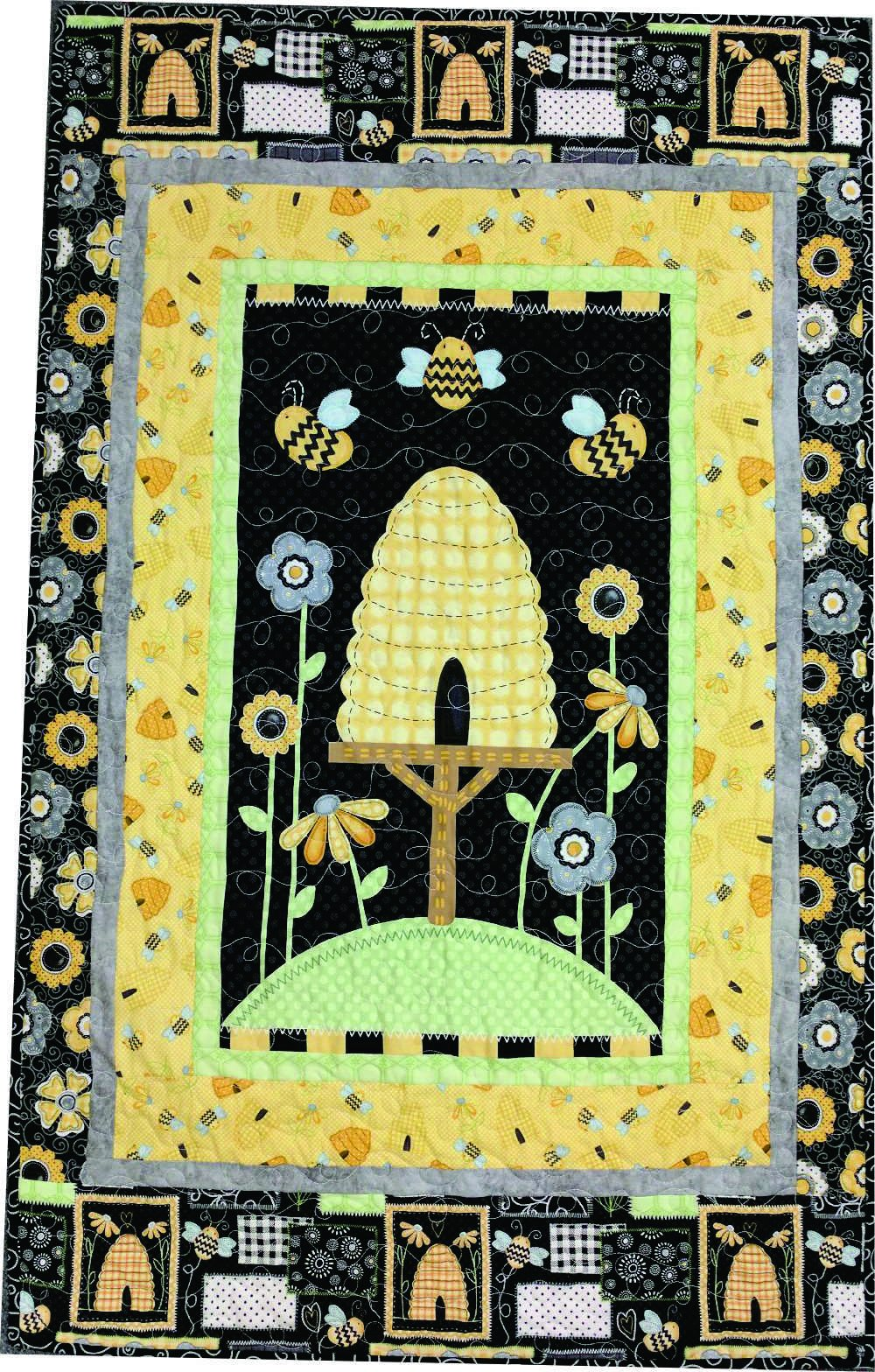 Sew Bee It Panel Kit / Wall Hanging / 42 x 56