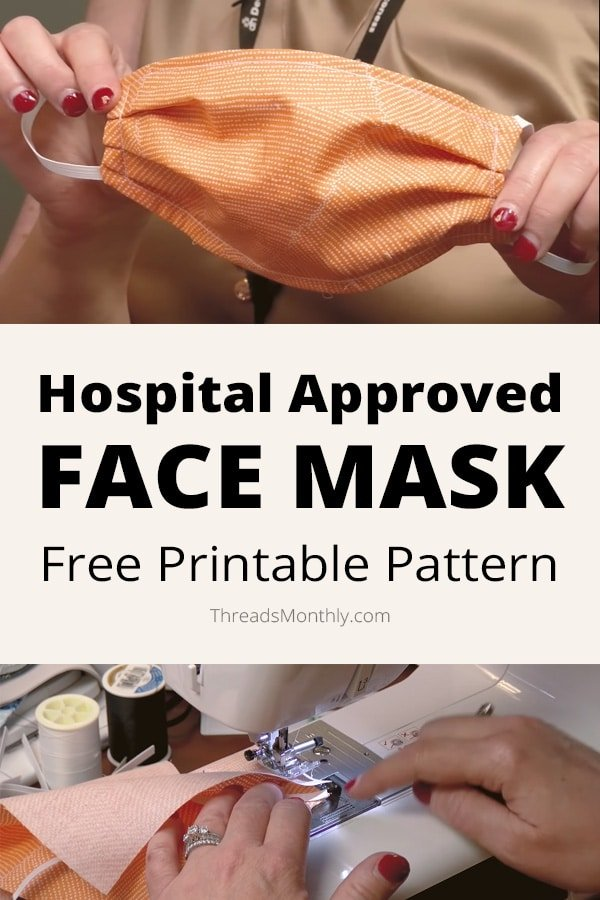 Free Face Mask Pattern, 3 sizes