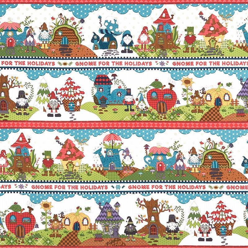 Starry Basics Gnome for the Holidays  Border Stripe
