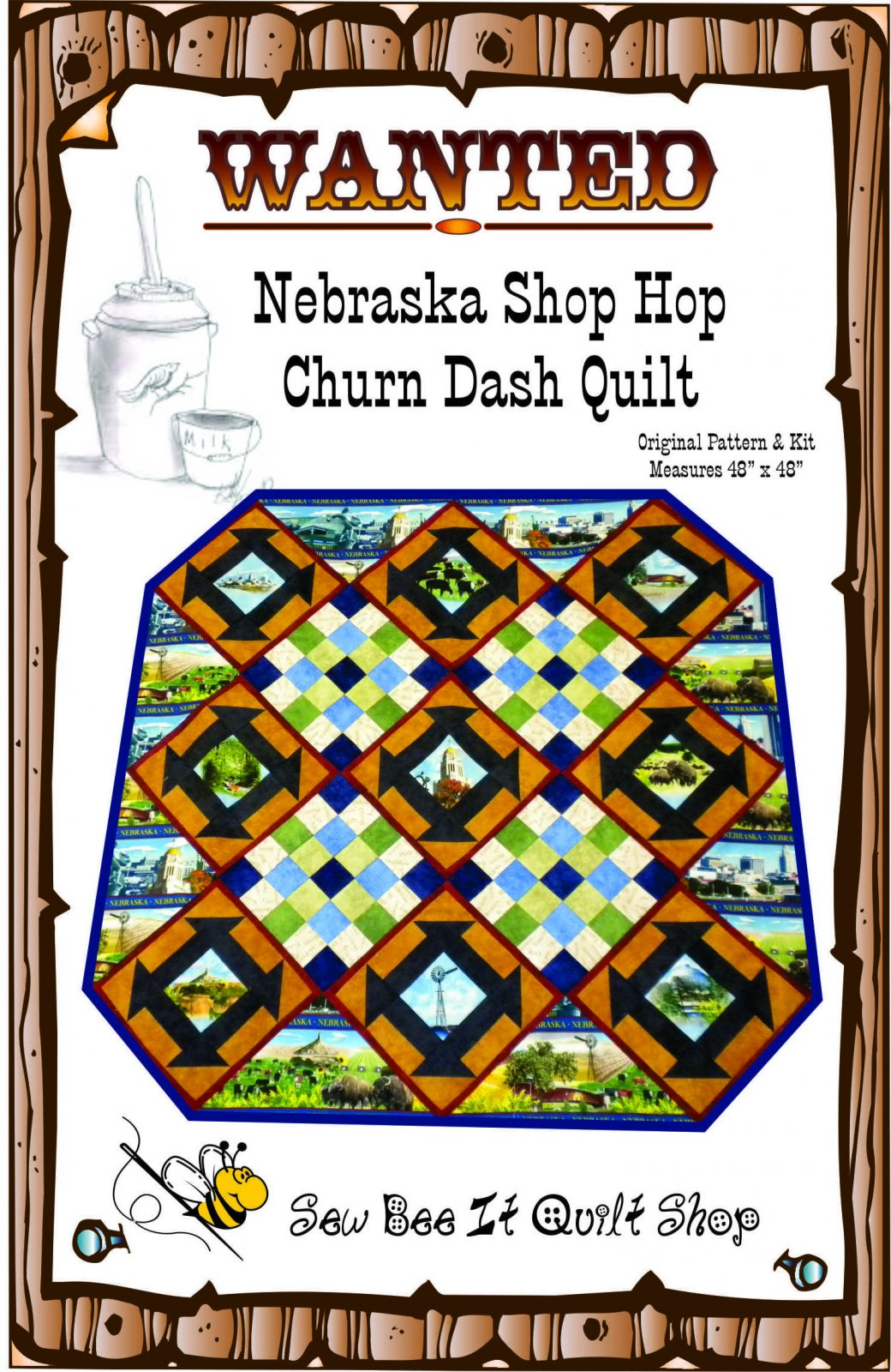 Nebraska Churn Dash Quilt Pattern