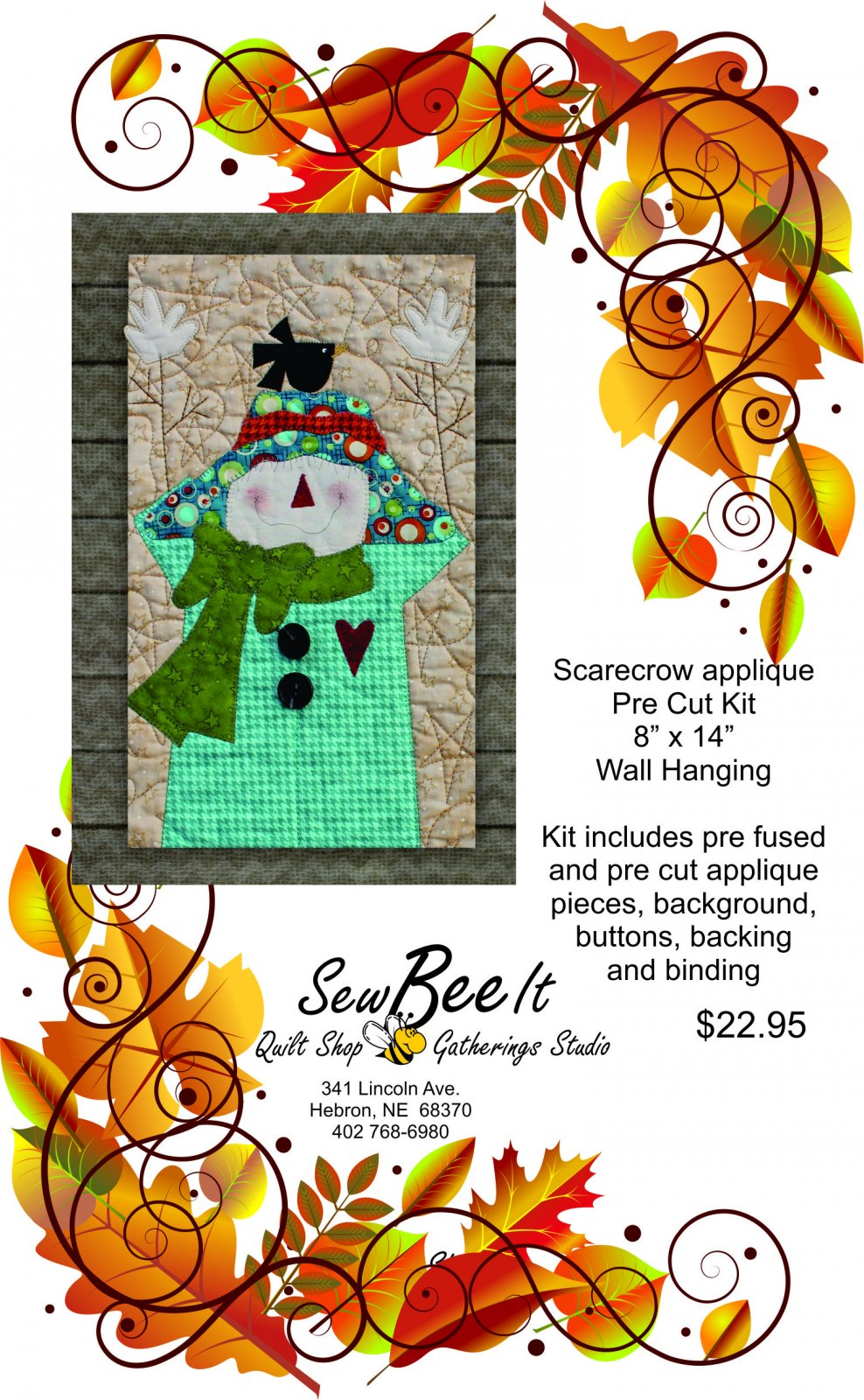 Scarecrow Precut Fused Applique Pack Kit