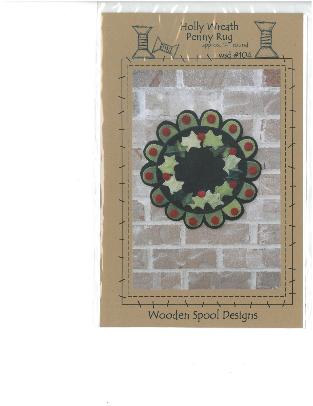 Holly Wreath Pattern