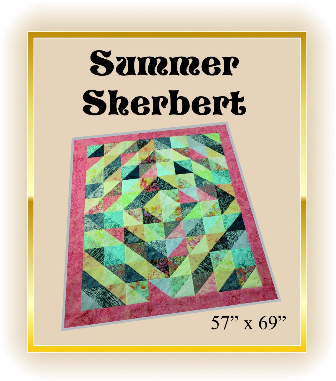 Summer Sherbert Bali Batik Quilt