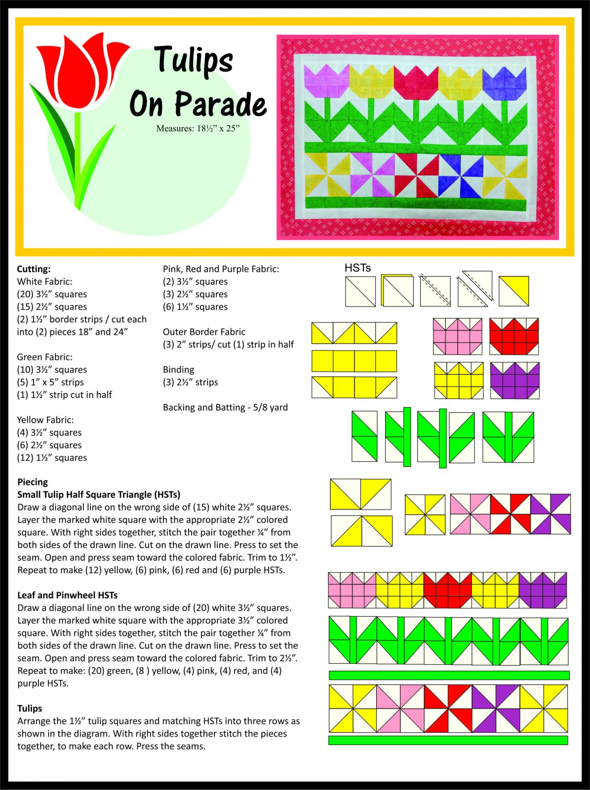 Tulips on Parade Pattern