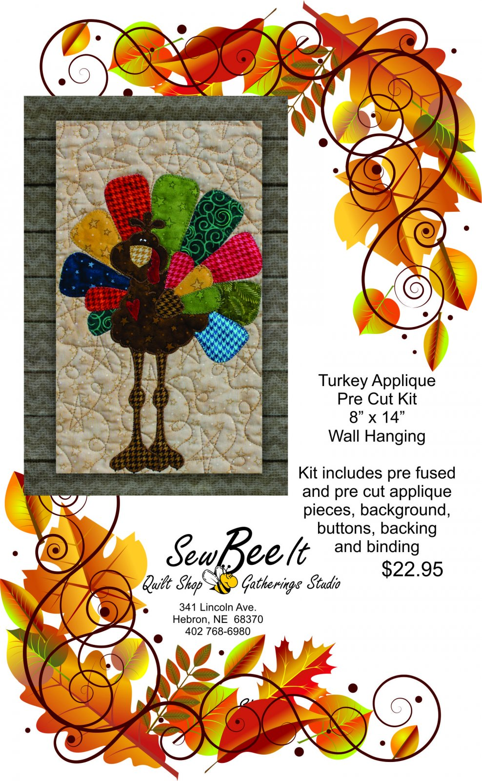 Turkey Precut Fused Applique Pack