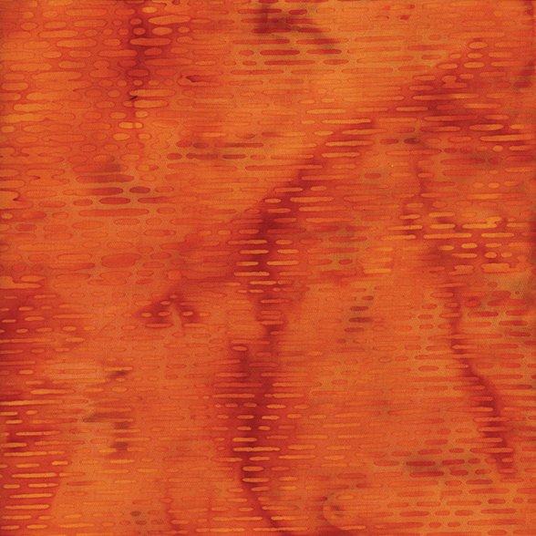 Vertical Lines Batik * Shades of Orange