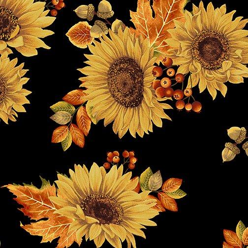 Autumn Elegance Sunflower - Black