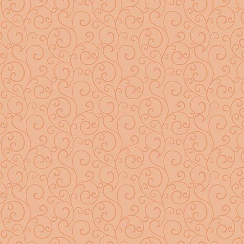 Autumn Elegance Scroll - Pale Persimmon