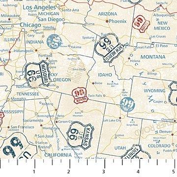Route 66 - Map - Cream/Multi