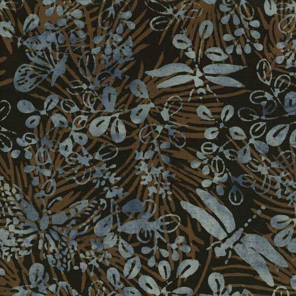 Butterfly Dragon Batik * Navy/Brown Lilac