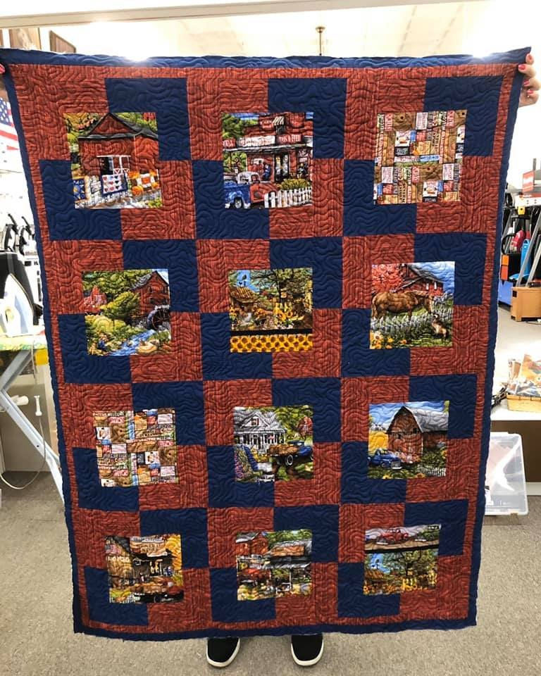 Farm Throw Quilt Kit