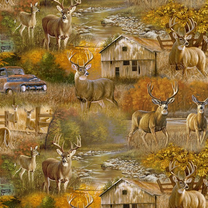 Fall Country Deer Scenic - Digital - Multi