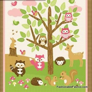 Forest Friends Flannel Panel~F4558-21
