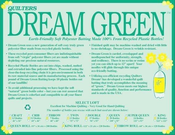 Dream Green 46 x 60 Crib