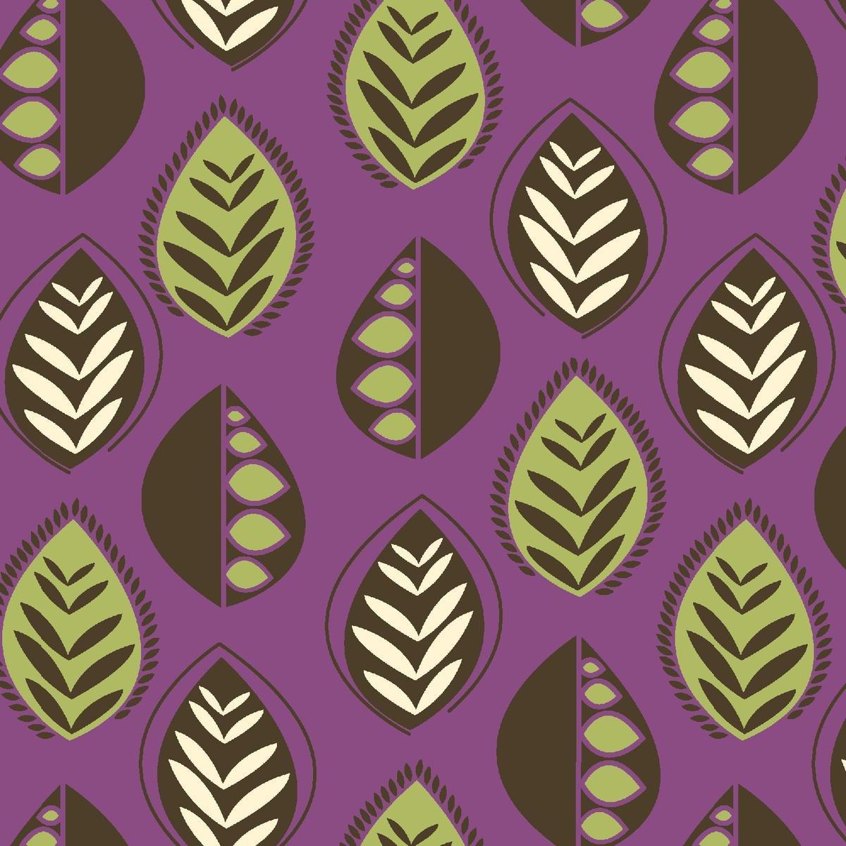 Chelsea Leaves * Purple ~BA32546-03