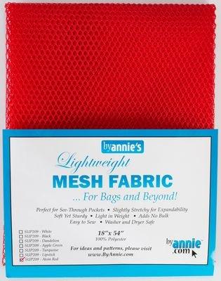 Lightweight Mesh Fabric 18 x 54 - Atom Red