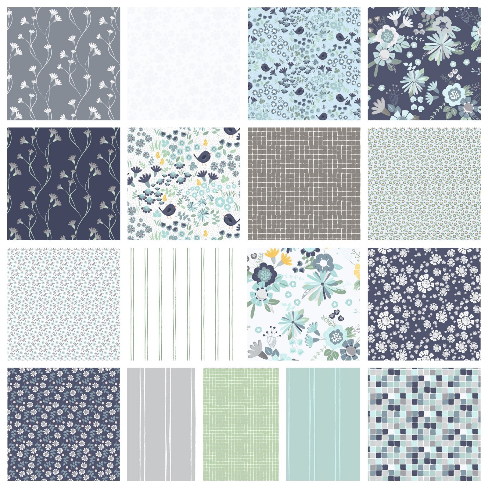 Secret Garden Fat Quarter Bundle 17 pc