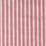 Red and White Ticking Tea Towel by Dunroven House