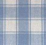 Light Blue on White Large Check Tea Towel by Dunroven House