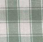 Light Green on White Large Check Tea Towel by Dunroven House