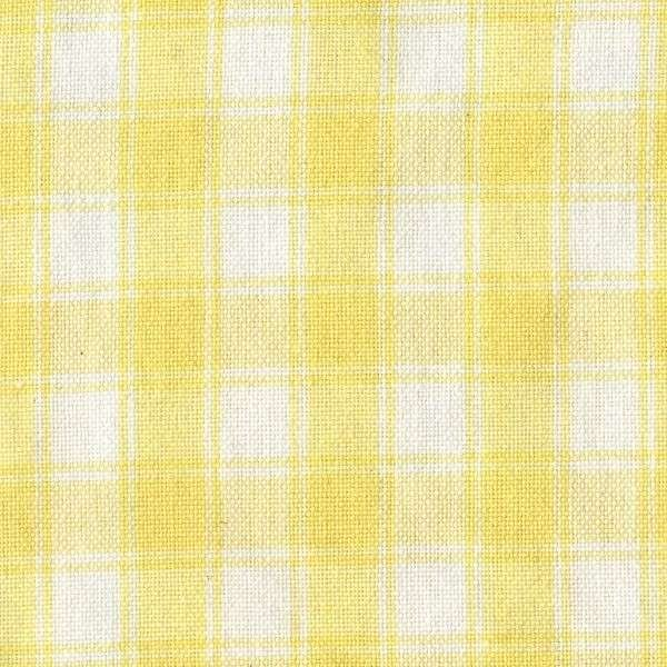 Yellow on White Large Check Tea Towel by Dunroven House