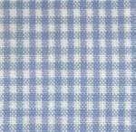 Light Blue on White Small Check Tea Towel by Dunroven House