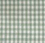 Light Green on White Small Check Tea Towel by Dunroven House