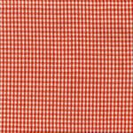 Orange on White Small Check Tea Towel by Dunroven House