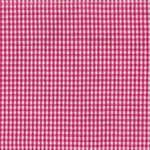 Pink on White Small Check Tea Towel by Dunroven House