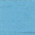Turquoise on White Small Check Tea Towel by Dunroven House