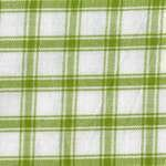 Lime Green on White Large Check Tea Towel by Dunroven House